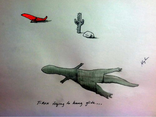 t-rex-trying-to-hang-glide