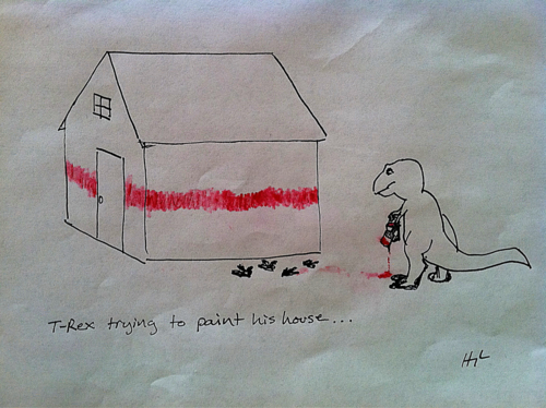 t-rex-trying-to-paint-his-house